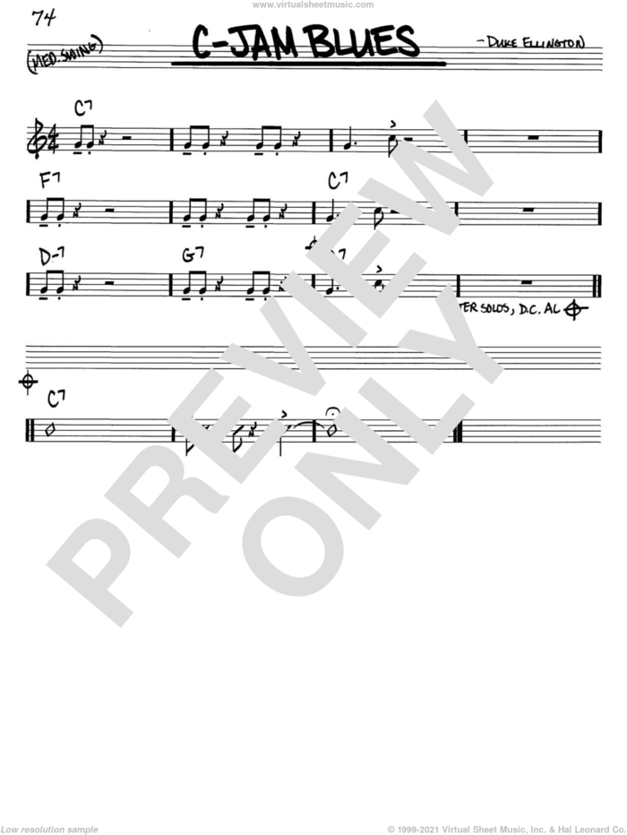 C-Jam Blues sheet music for voice and other instruments (in C) by Duke Ellington, intermediate skill level