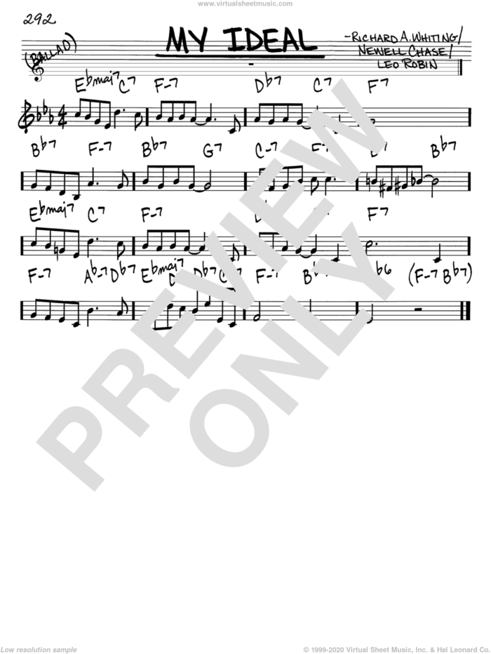 My Ideal sheet music for voice and other instruments (in C) by John Coltrane, Leo Robin, Newell Chase and Richard A. Whiting, intermediate skill level