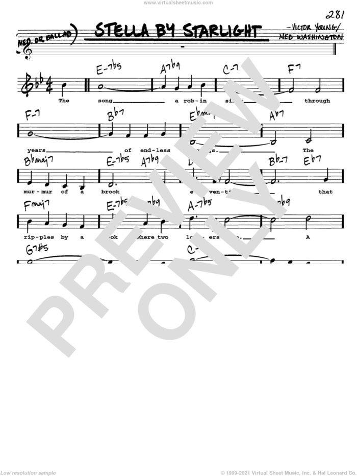 Stella By Starlight sheet music for voice and other instruments  by Victor Young and Ned Washington, intermediate skill level