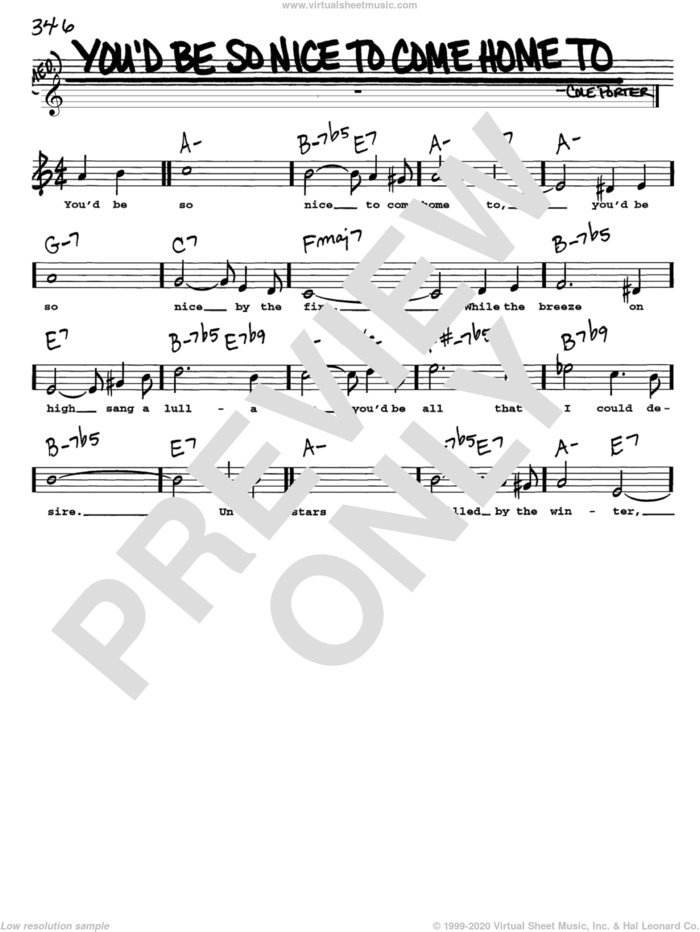 You'd Be So Nice To Come Home To sheet music for voice and other instruments  by Cole Porter, intermediate skill level