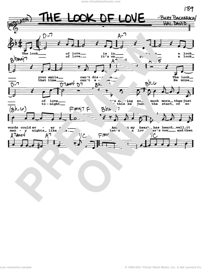 The Look Of Love sheet music for voice and other instruments  by Bacharach & David, Sergio Mendes, Burt Bacharach and Hal David, intermediate skill level