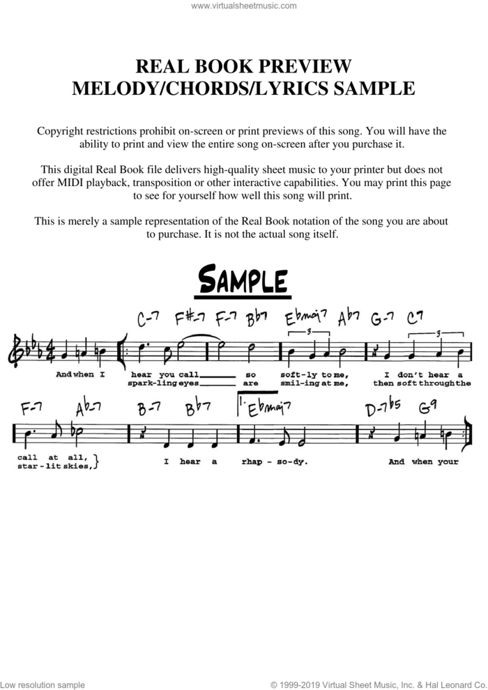 Soon It's Gonna Rain sheet music for voice and other instruments  by Harvey Schmidt and Tom Jones, intermediate skill level