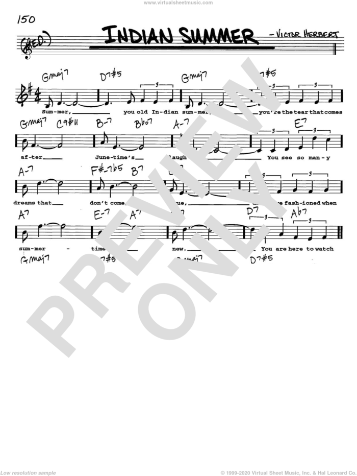Indian Summer sheet music for voice and other instruments  by Victor Herbert, intermediate skill level