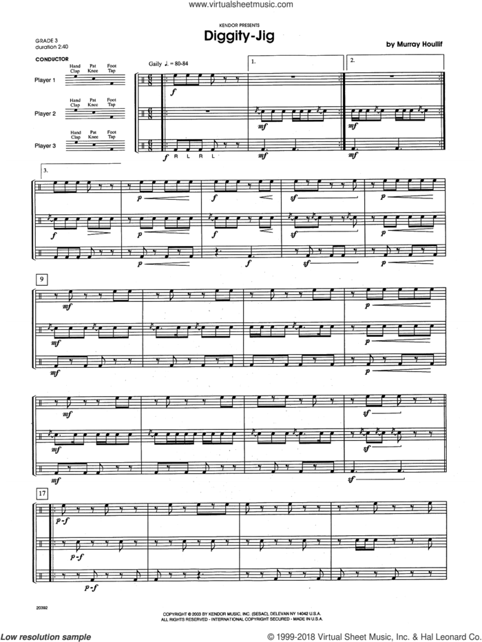 Diggity-Jig (COMPLETE) sheet music for percussions by Houllif, intermediate skill level