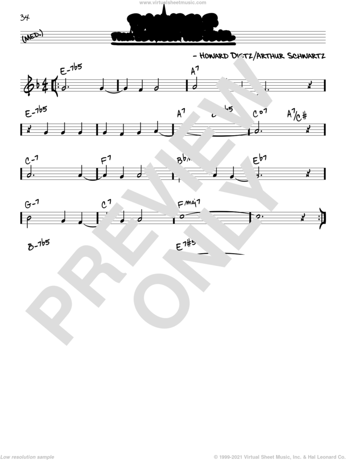 By Myself sheet music for voice and other instruments (real book) by Arthur Schwartz and Howard Dietz, intermediate skill level