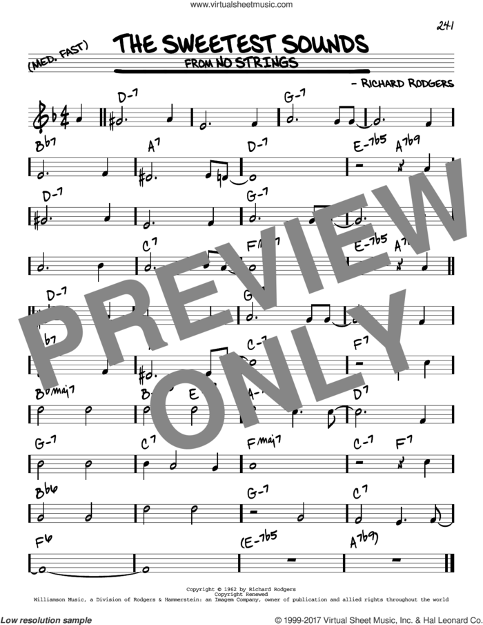 The Sweetest Sounds sheet music for voice and other instruments (real book) by Richard Rodgers, intermediate skill level