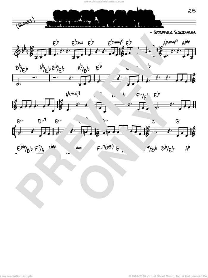 Send In The Clowns sheet music for voice and other instruments (real book) by Stephen Sondheim, intermediate skill level