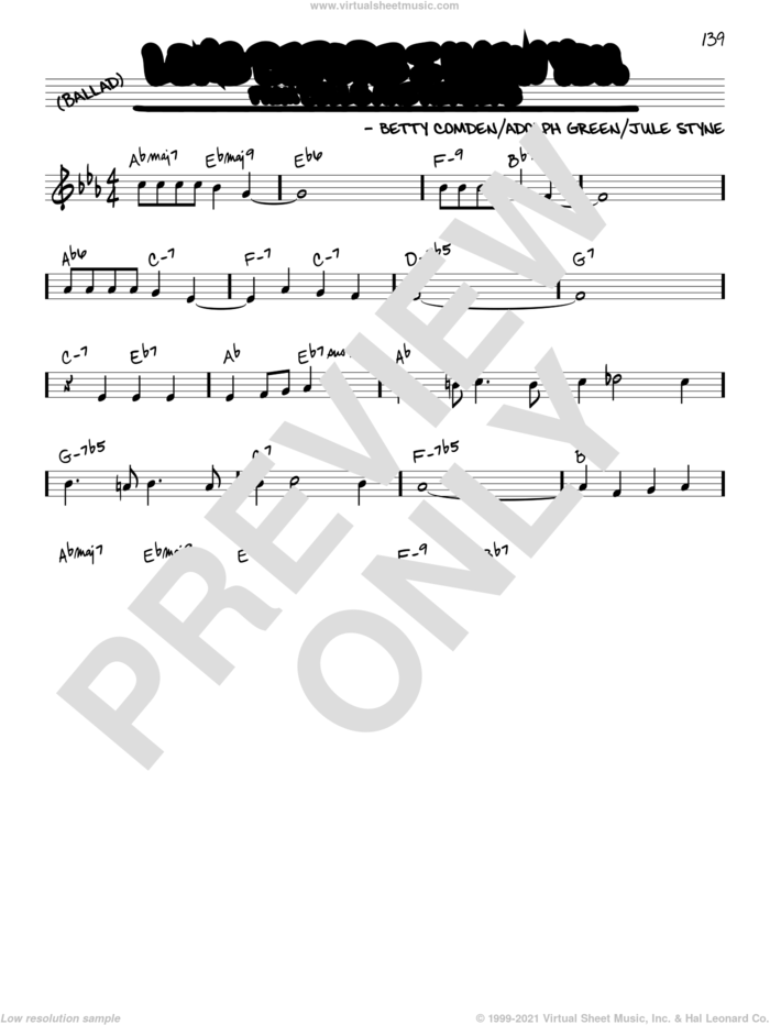Long Before I Knew You sheet music for voice and other instruments (real book) by Jule Styne, Adolph Green and Betty Comden, intermediate skill level