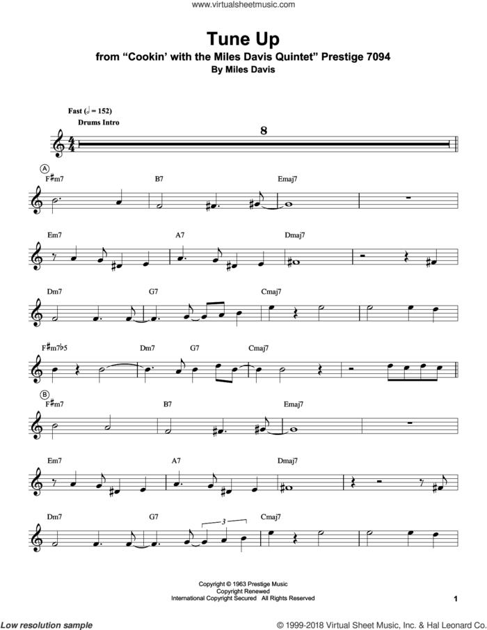 Tune Up sheet music for trumpet solo (transcription) by Miles Davis, intermediate trumpet (transcription)