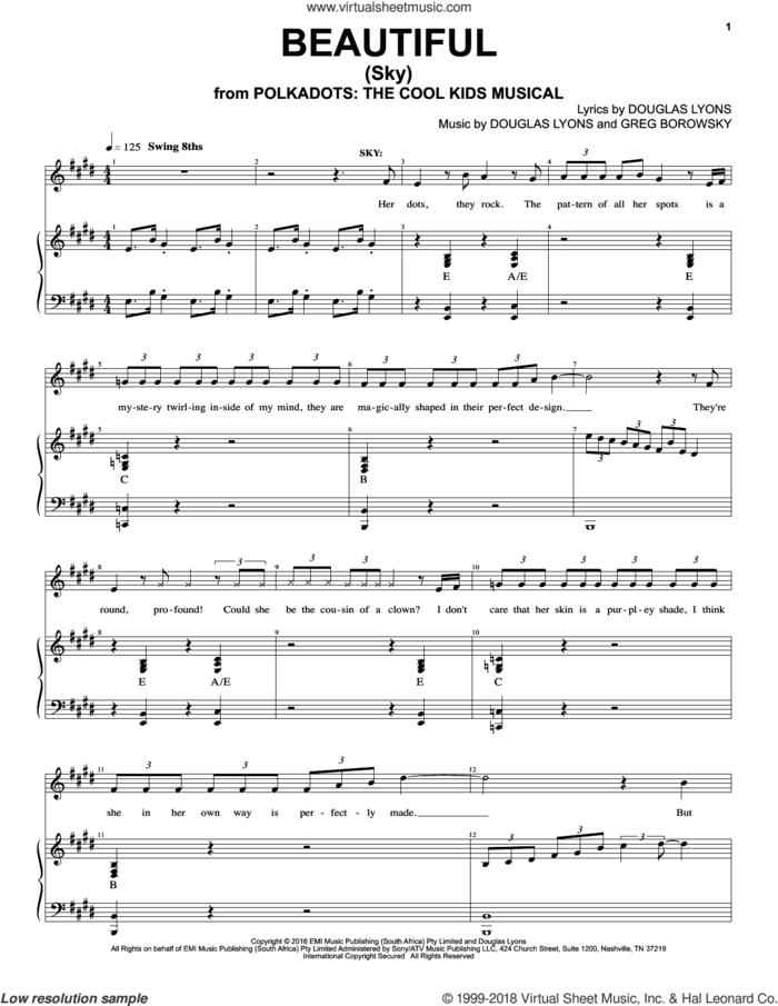 Beautiful sheet music for voice and piano by Douglas Lyons & Greg Borowsky, Douglas Lyons and Greg Borowsky, intermediate skill level
