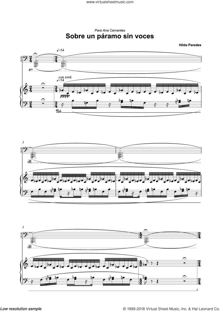 Sobre Un Paramo Sin Voces sheet music for piano solo by Hilda Paredes, classical score, intermediate skill level