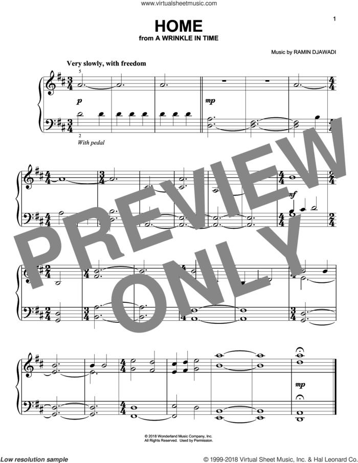 Home sheet music for piano solo by Ramin Djawadi, easy skill level