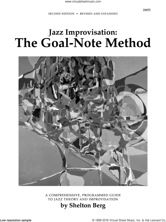 Jazz Improvisation: The Goal-Note Method sheet music for piano solo by Shelton Berg, intermediate skill level