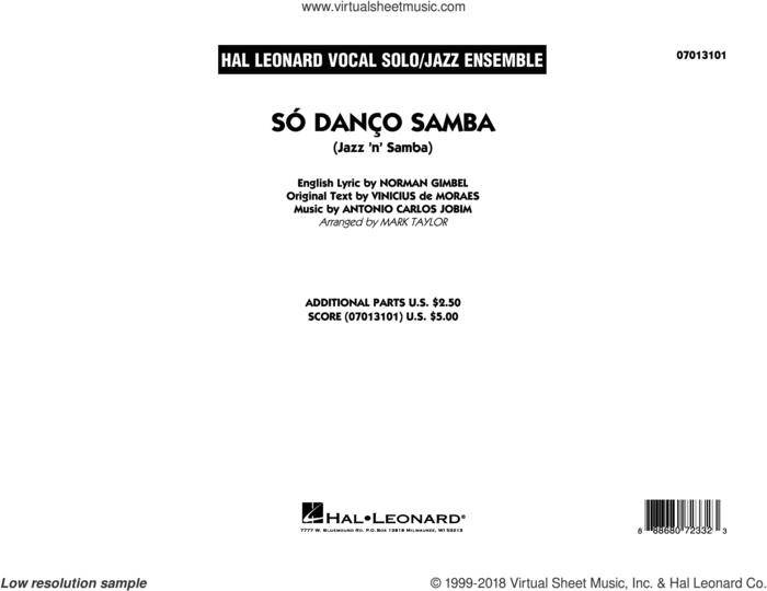 So Danco Samba (Jazz 'n' Samba) (arr. Mark Taylor) (COMPLETE) sheet music for jazz band by Norman Gimbel, Antonio Carlos Jobim, Mark Taylor and Vinicius de Moraes, intermediate skill level