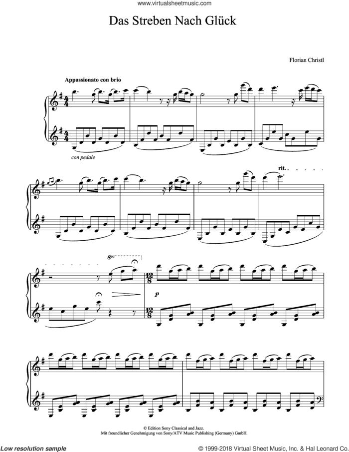 Das Streben Nach Gluck sheet music for piano solo by Florian Christl, classical score, intermediate skill level