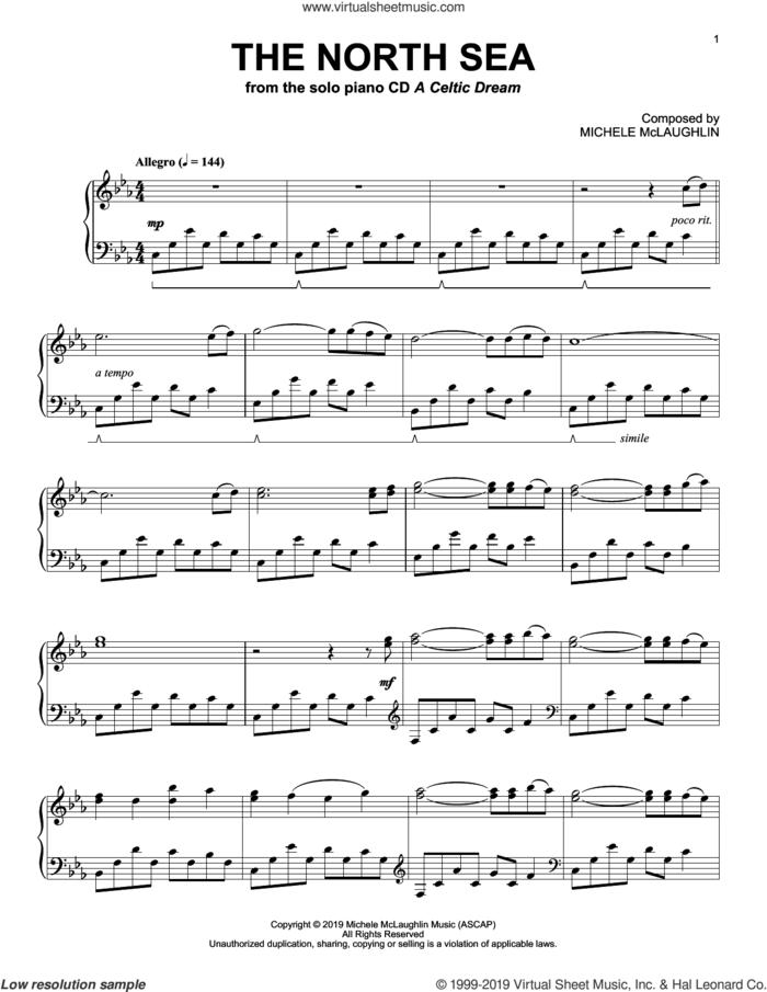 The North Sea sheet music for piano solo by Michele McLaughlin, intermediate skill level