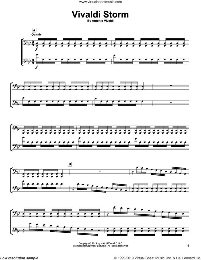 Vivaldi Storm sheet music for two cellos (duet, duets) by 2Cellos and Antonio Vivaldi, classical score, intermediate skill level