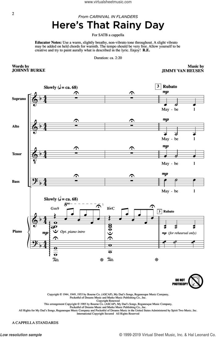 A Cappella Standards sheet music for choir (SATB: soprano, alto, tenor, bass) by Roger Emerson, intermediate skill level