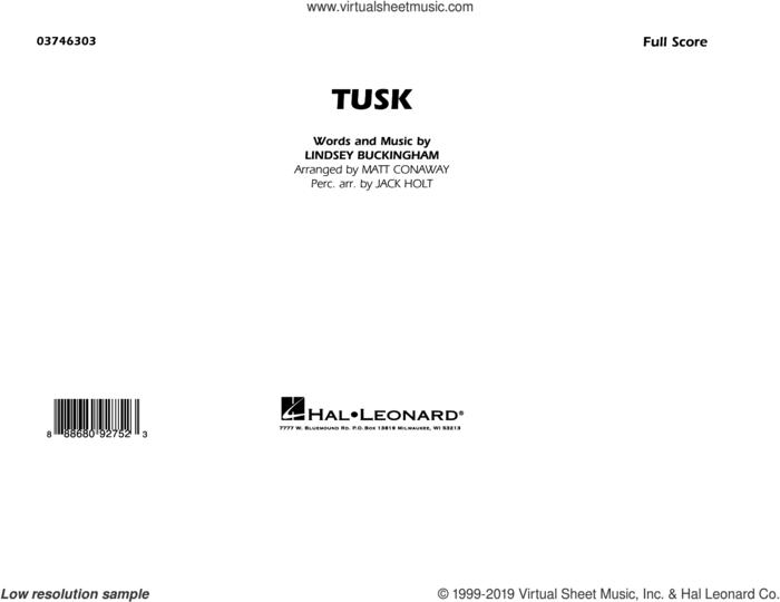 Tusk (arr. Matt Conaway) (COMPLETE) sheet music for marching band by Fleetwood Mac, Jack Holt, Lindsey Buckingham and Matt Conaway, intermediate skill level