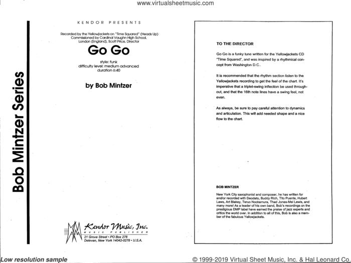 Go Go (COMPLETE) sheet music for jazz band by Bob Mintzer, intermediate skill level