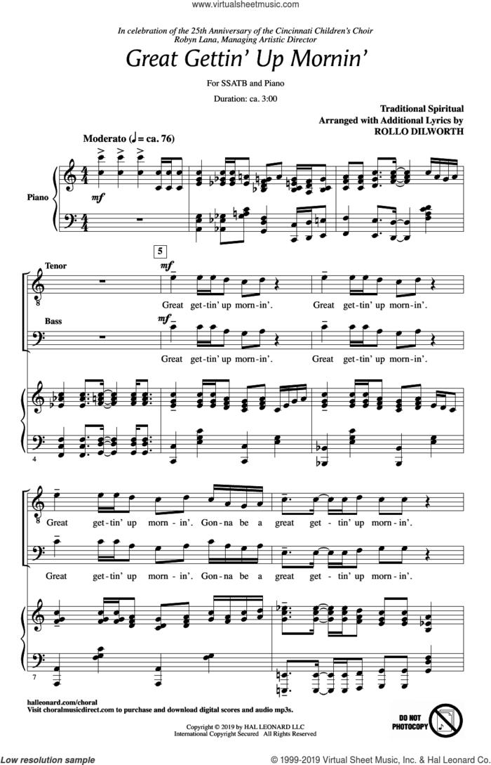 Great Gettin' Up Mornin' (arr. Rollo Dilworth) sheet music for choir (SATB: soprano, alto, tenor, bass)  and Rollo Dilworth, intermediate skill level