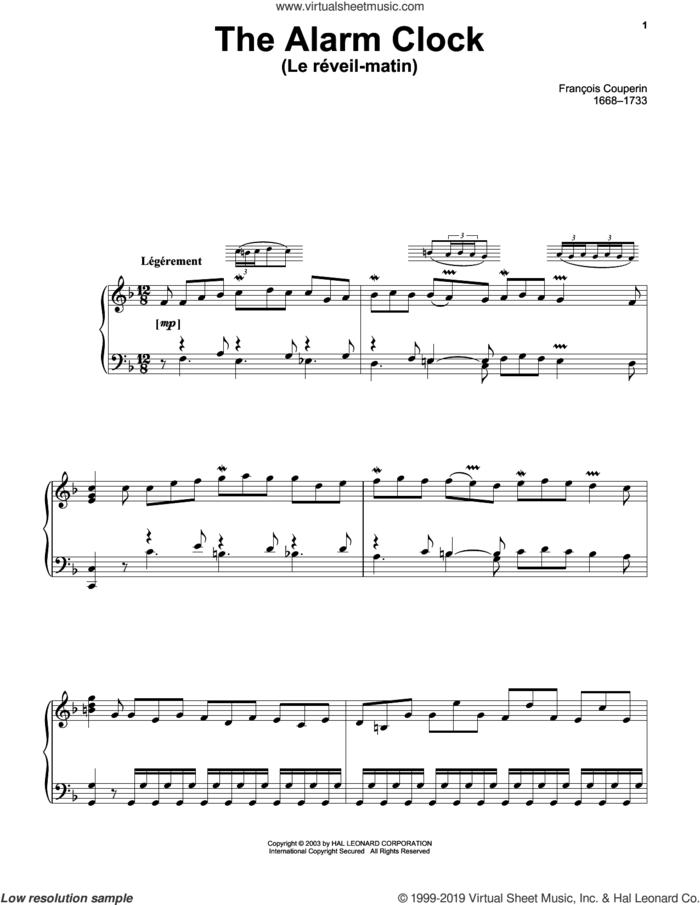 Le Reveil-Matin (The Alarm Clock) sheet music for piano solo by Francois Couperin, classical score, intermediate skill level