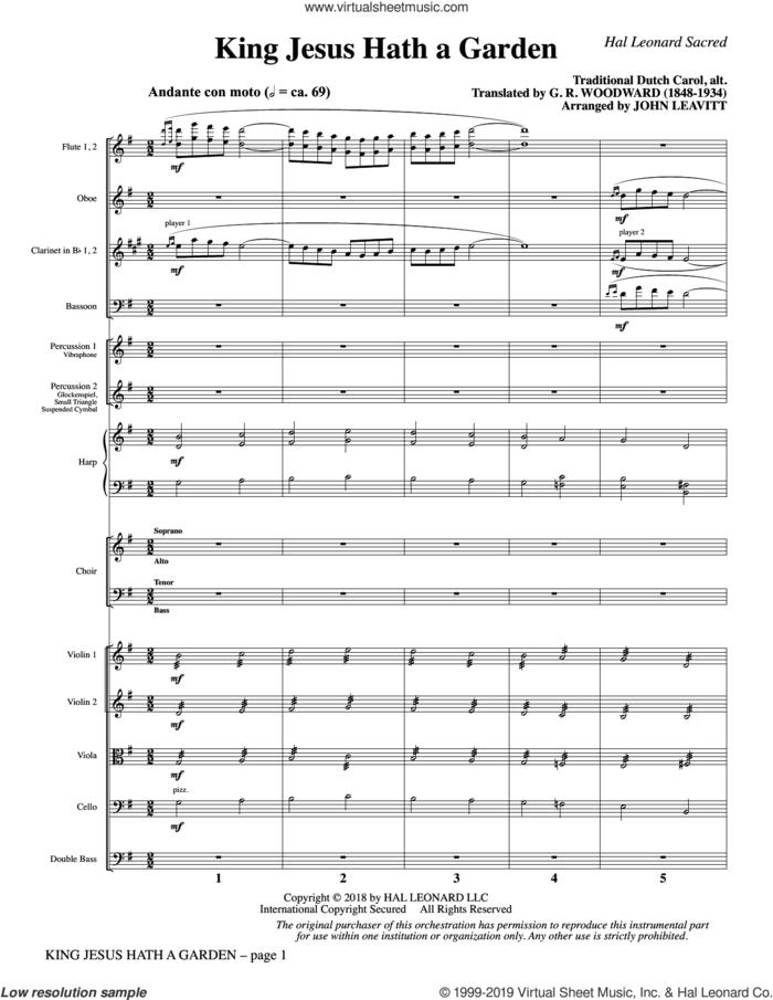 King Jesus Hath a Garden (arr. John Leavitt) (COMPLETE) sheet music for orchestra/band by John Leavitt, G.R. Woodward and Miscellaneous, intermediate skill level
