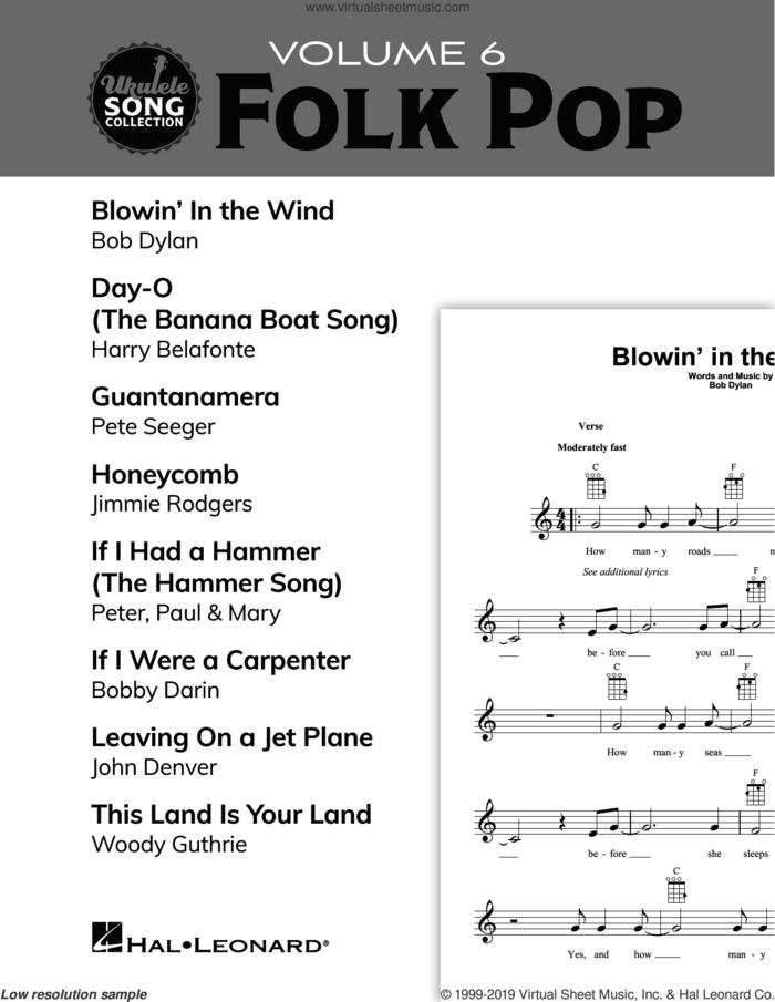 Ukulele Song Collection, Volume 6: Folk Pop sheet music for ukulele solo (collection), easy ukulele (collection)