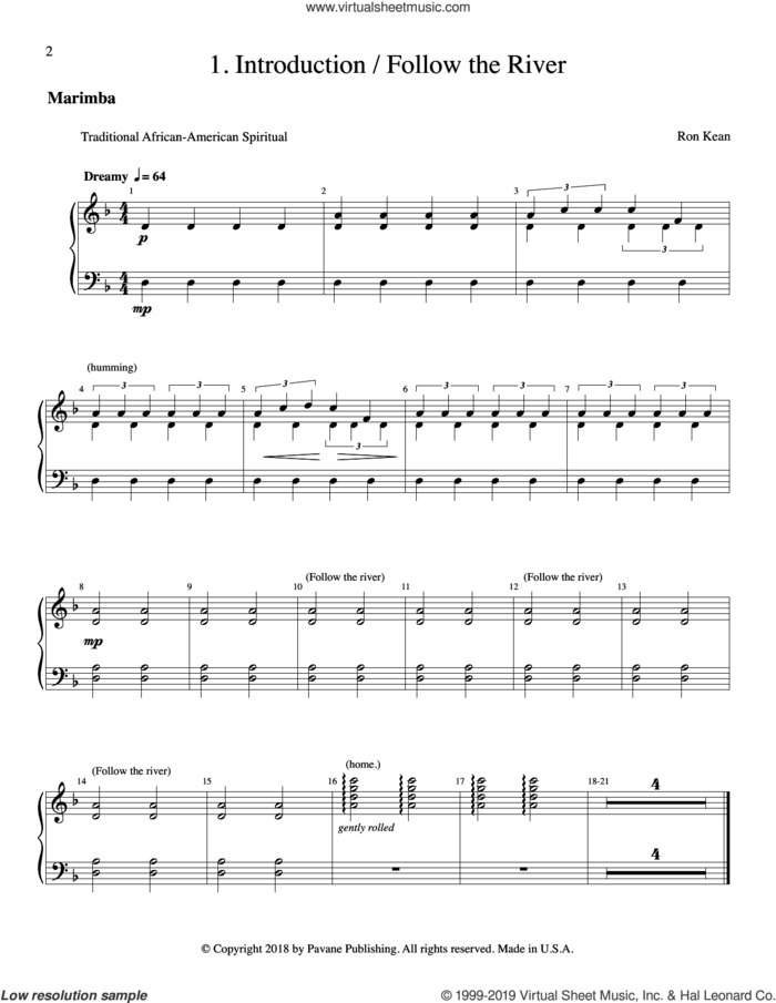 The Journey of Harriet Tubman (for SSAA) (complete set of parts) sheet music for orchestra/band by Ron Kean, intermediate skill level