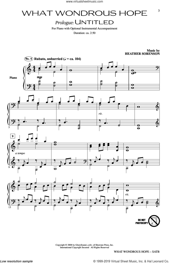 What Wondrous Hope (A Service of Promise, Grace and Life) sheet music for choir (SATB: soprano, alto, tenor, bass) by Joseph M. Martin, Heather Sorenson and Joseph M. Martin and Heather Sorenson, intermediate skill level