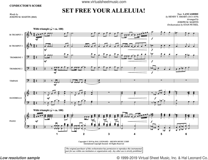 Set Free Your Alleluia! (Brass and Timpani) (COMPLETE) sheet music for orchestra/band by Joseph M. Martin, intermediate skill level