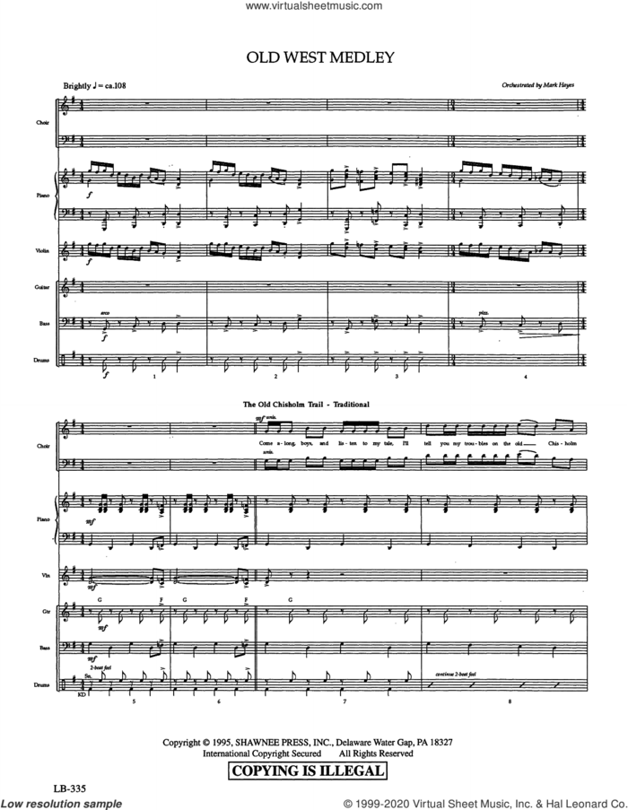 Old West Medley (arr. Mark Hayes) (COMPLETE) sheet music for orchestra/band  and Mark Hayes, intermediate skill level