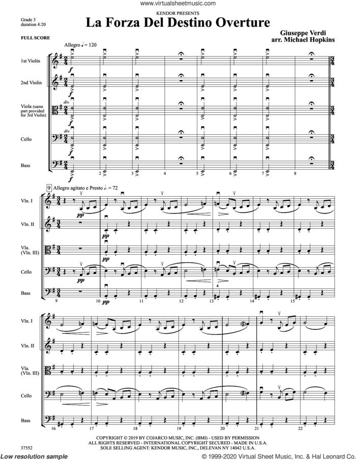 La Forza Del Destino Overture (arr. Michael Hopkins) (COMPLETE) sheet music for orchestra by Giuseppe Verdi and Michael Hopkins, classical score, intermediate skill level