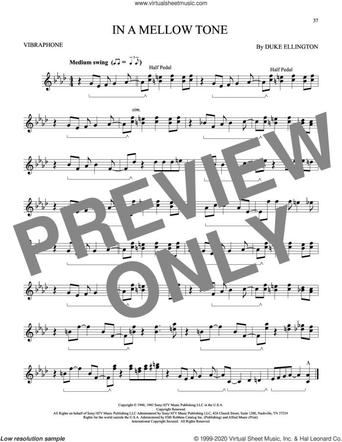 In A Mellow Tone sheet music for Vibraphone Solo by Duke Ellington and Milt Gabler, intermediate skill level