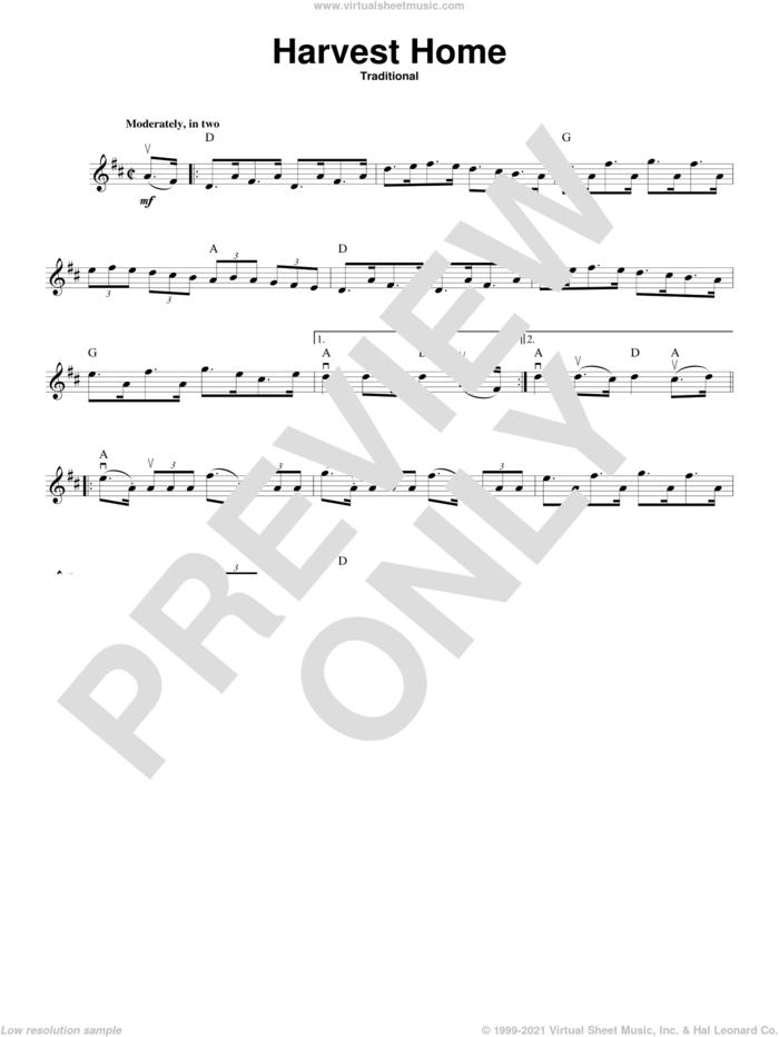 Harvest Home sheet music for violin solo, intermediate skill level