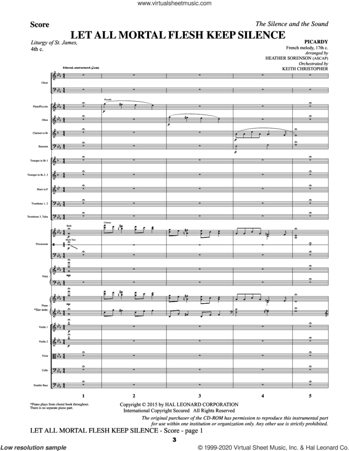 The Silence and the Sound: A Cantata for Christmas (COMPLETE) sheet music for orchestra/band by Heather Sorenson, intermediate skill level