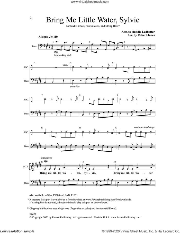 Bring Me little Water, Sylvie sheet music for choir (SATB: soprano, alto, tenor, bass) by Robert Jones, intermediate skill level