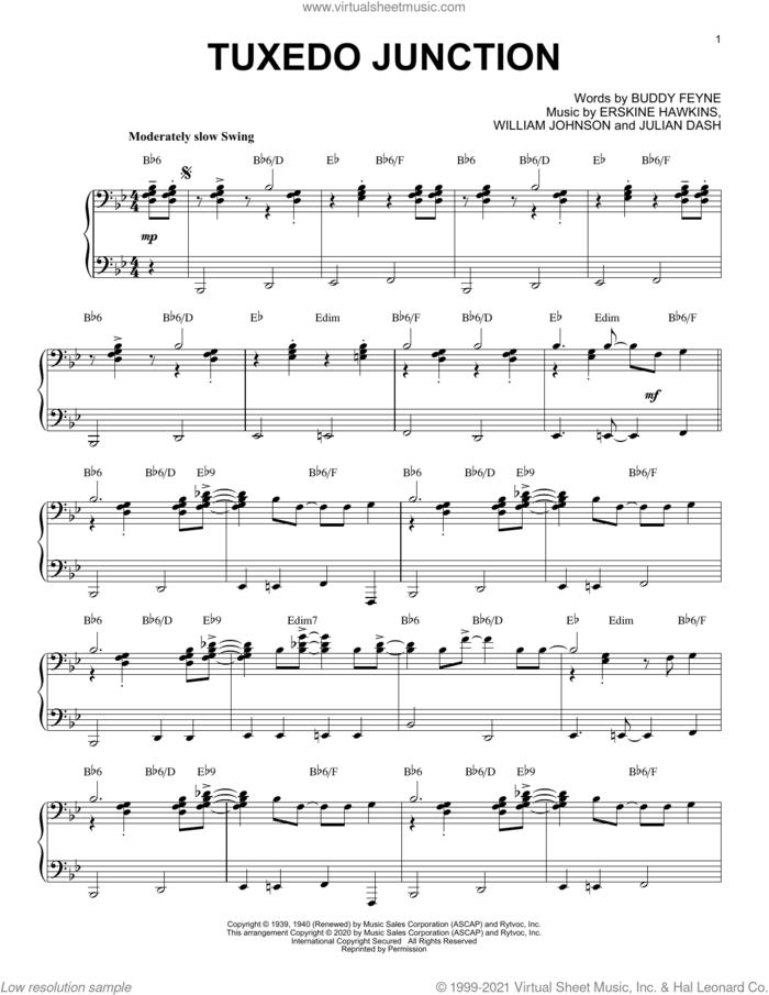 Tuxedo Junction [Jazz version] (arr. Brent Edstrom) sheet music for piano solo by Buddy Feyne, Brent Edstrom, Erskine Hawkins, Julian Dash and William Johnson, intermediate skill level