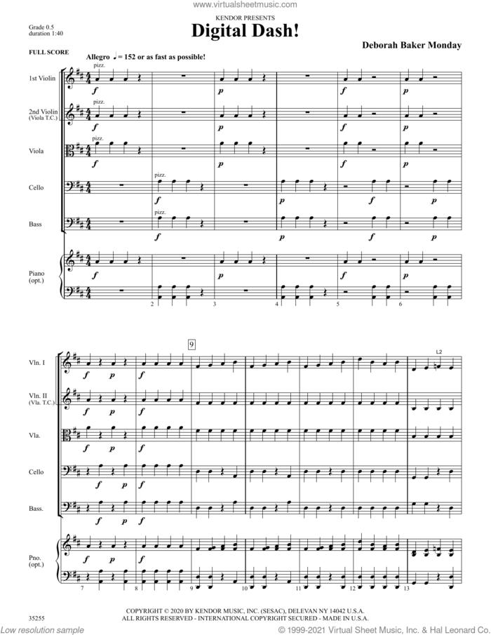 Digital Dash! (COMPLETE) sheet music for orchestra by Deborah Baker Monday, intermediate skill level