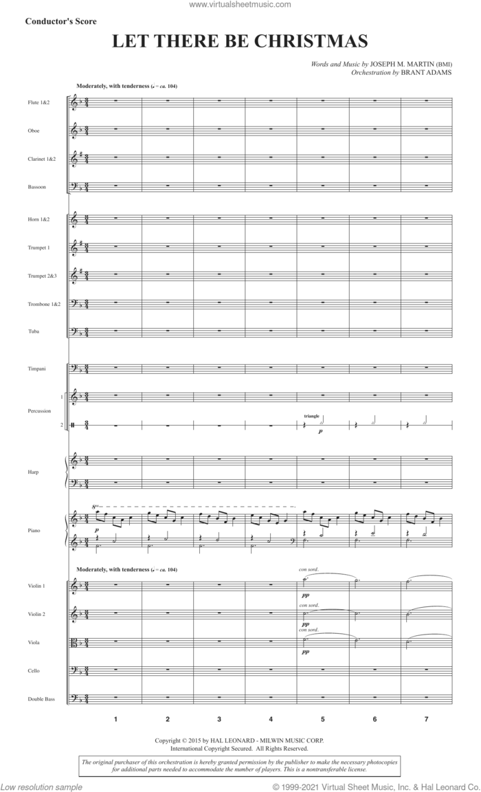 Let There Be Christmas (Full Orchestra) (COMPLETE) sheet music for orchestra/band by Joseph M. Martin, intermediate skill level
