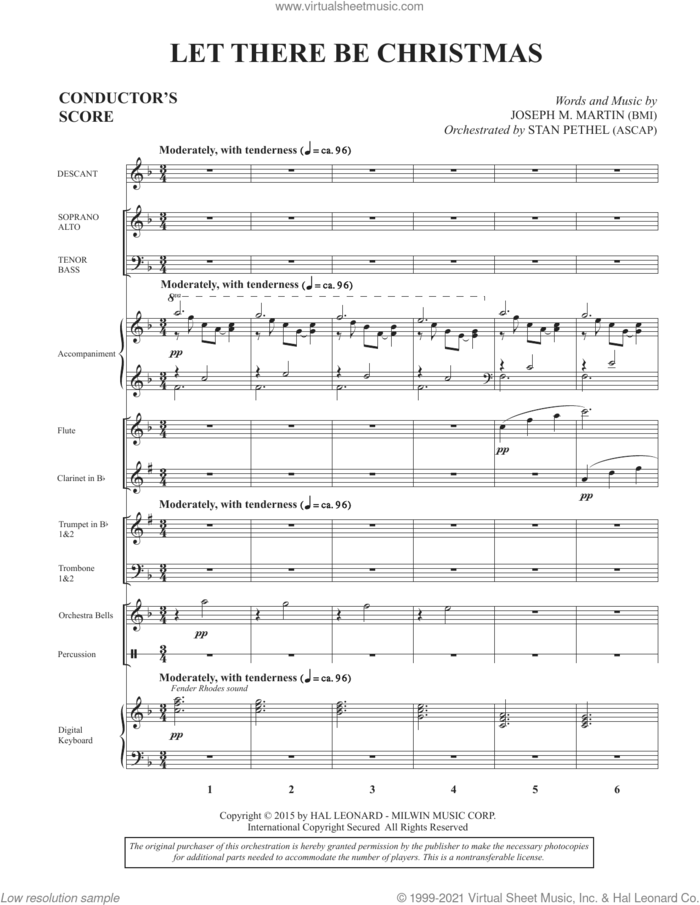 Let There Be Christmas (Consort) (COMPLETE) sheet music for orchestra/band by Joseph M. Martin, intermediate skill level