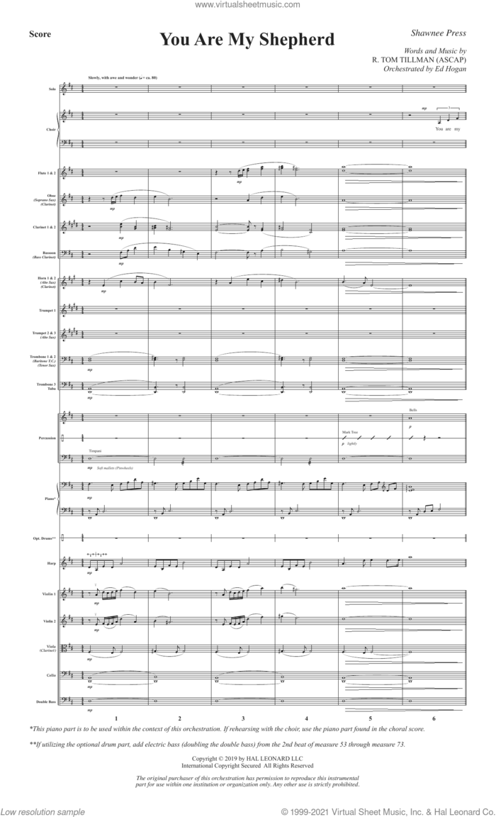 You Are My Shepherd (Psalm 23) (COMPLETE) sheet music for orchestra/band by R. Tom Tillman, intermediate skill level