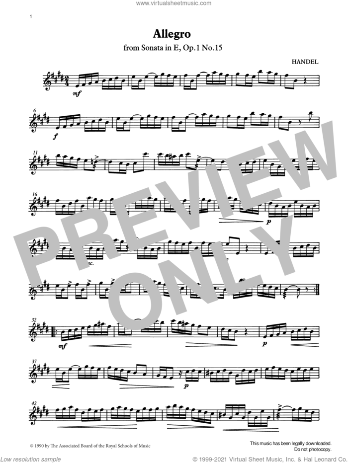 Allegro (Handel) from Graded Music for Tuned Percussion, Book IV sheet music for percussions by George Frideric Handel, Ian Wright and Kevin Hathway, classical score, intermediate skill level