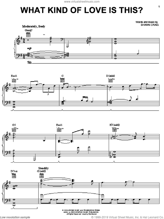 What Kind Of Love Is This sheet music for voice, piano or guitar by Phillips, Craig & Dean and Shawn Craig, intermediate skill level