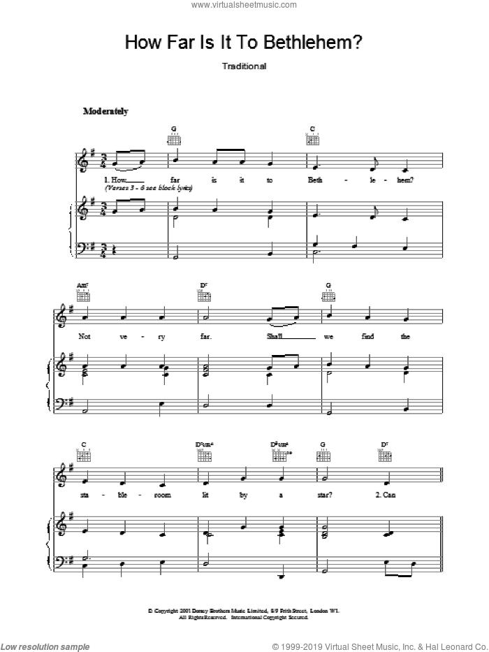 How Far Is It To sheet music for voice, piano or guitar