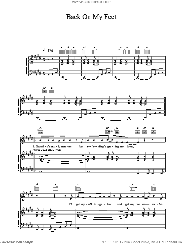 Back On My Feet sheet music for voice, piano or guitar by Wet Wet Wet