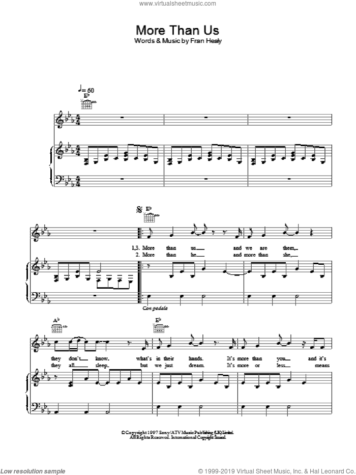 More Than Us sheet music for voice, piano or guitar by Merle Travis. Score Image Preview.