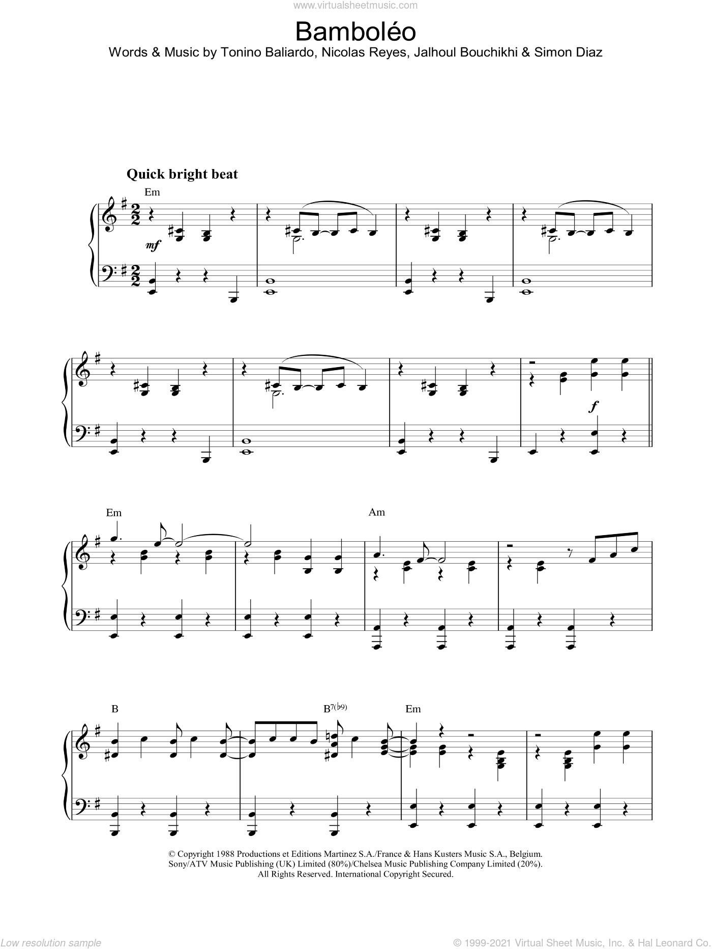 bamboleo ноты