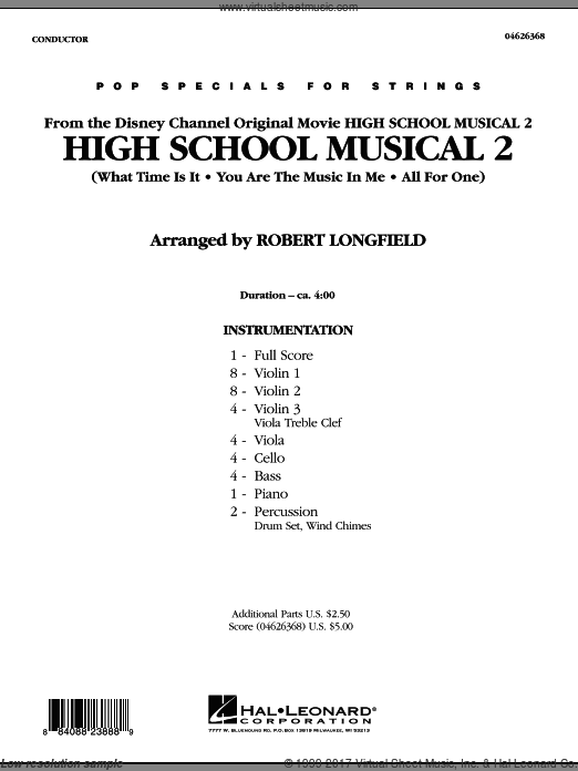High School Musical 2 (COMPLETE) sheet music for orchestra by Jamie Houston
