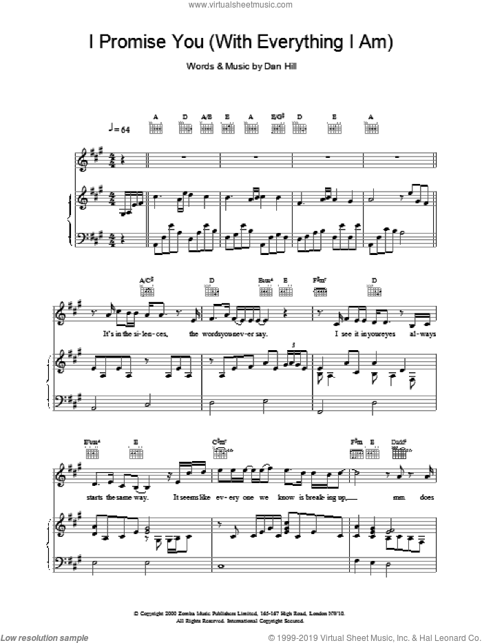 I Promise You sheet music for voice, piano or guitar by Backstreet Boys, intermediate voice, piano or guitar. Score Image Preview.